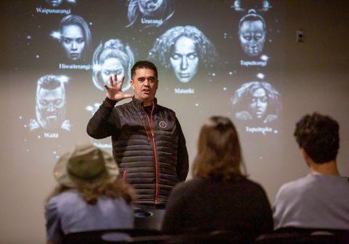 Rangi Matamua presenting Maori Astronomy master class